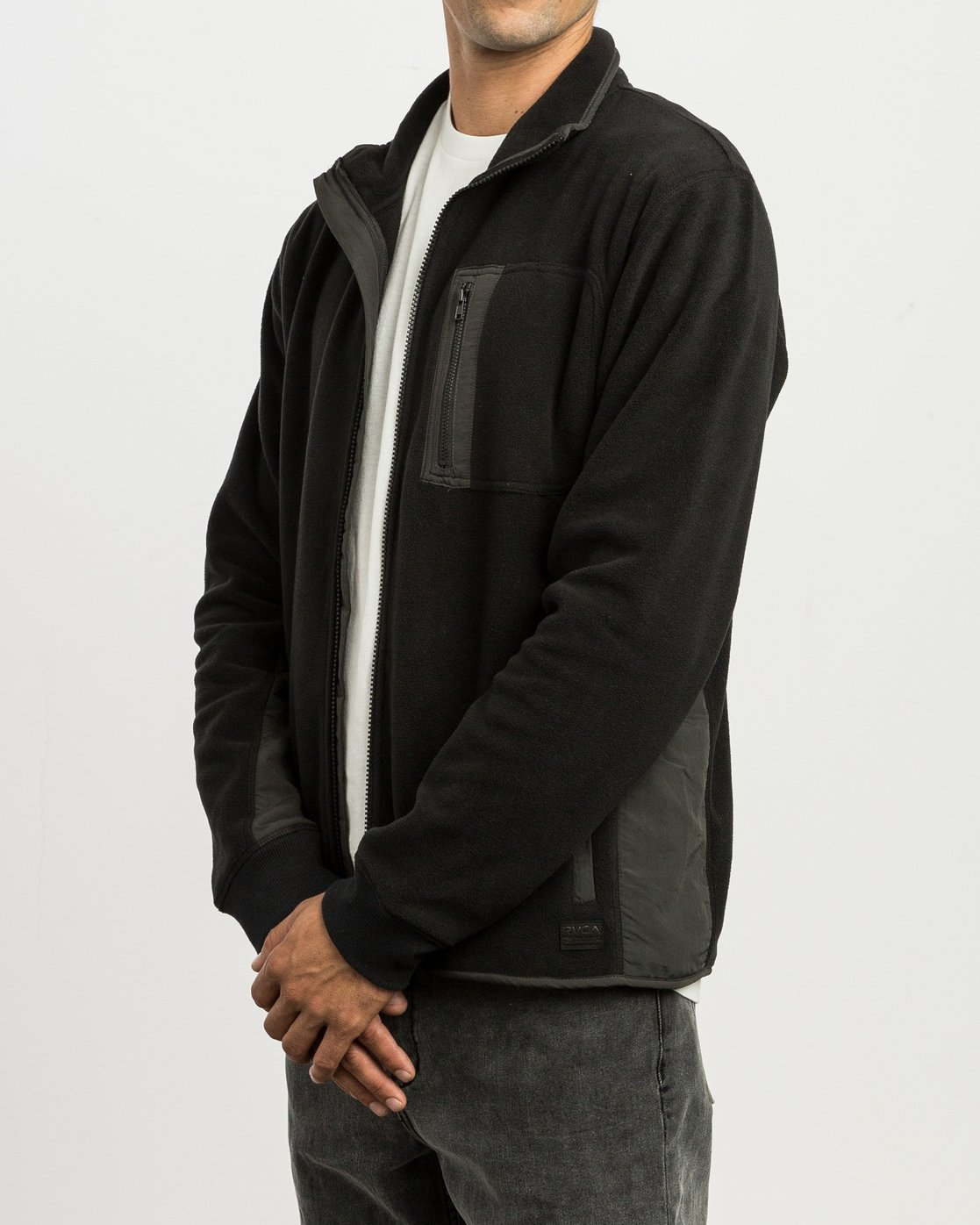 4 Theros Zip Polar Fleece Jacket Black M604SRTH RVCA