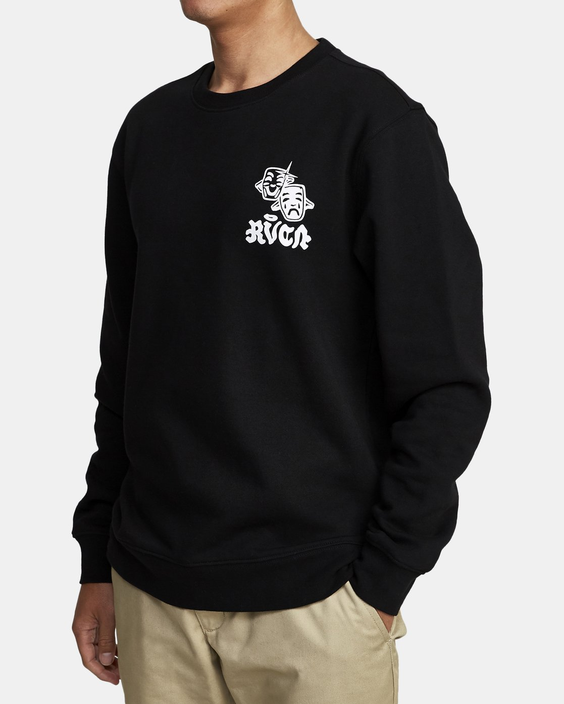 1 TRAGEDY CREW SWEATSHIRT Black M6082RTR RVCA