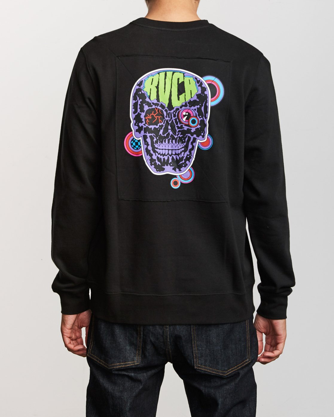 4 Leisure Crew Sweatshirt Black M608VRLC RVCA