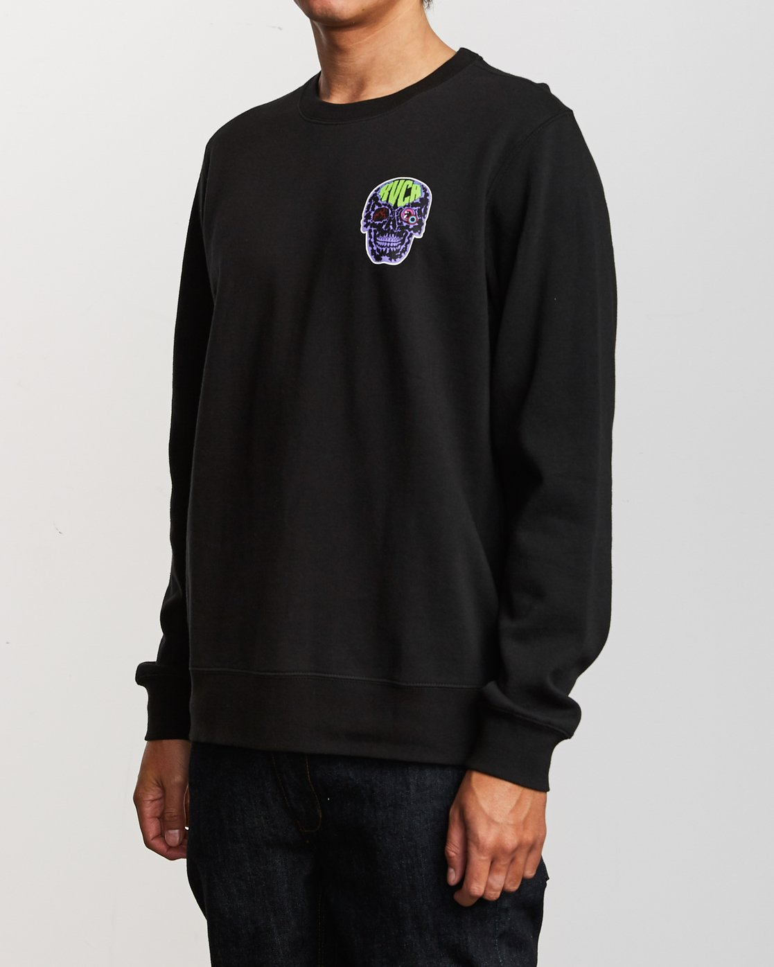 3 Leisure Crew Sweatshirt Black M608VRLC RVCA
