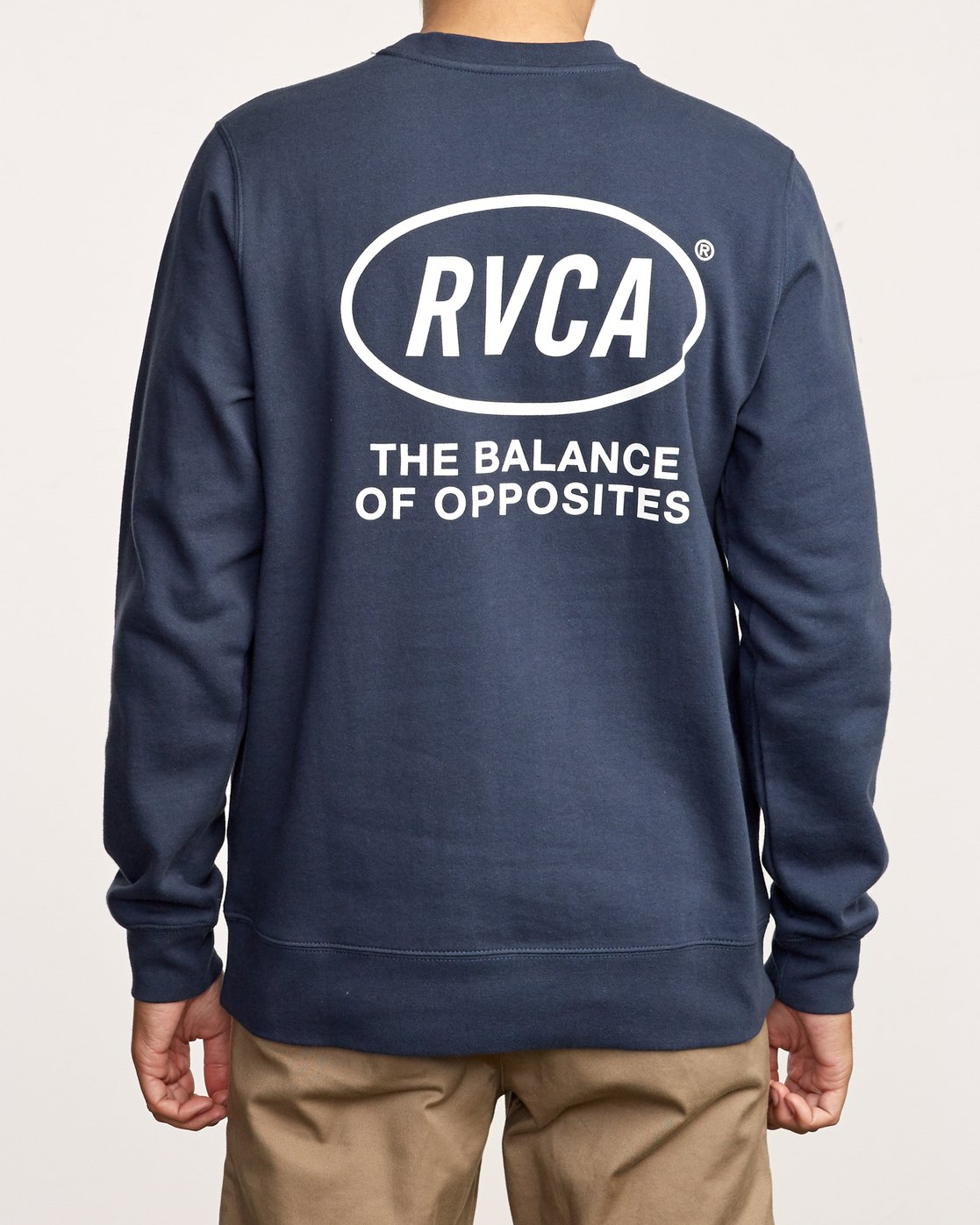5 Leisure Crew Sweatshirt Blue M608VRLC RVCA