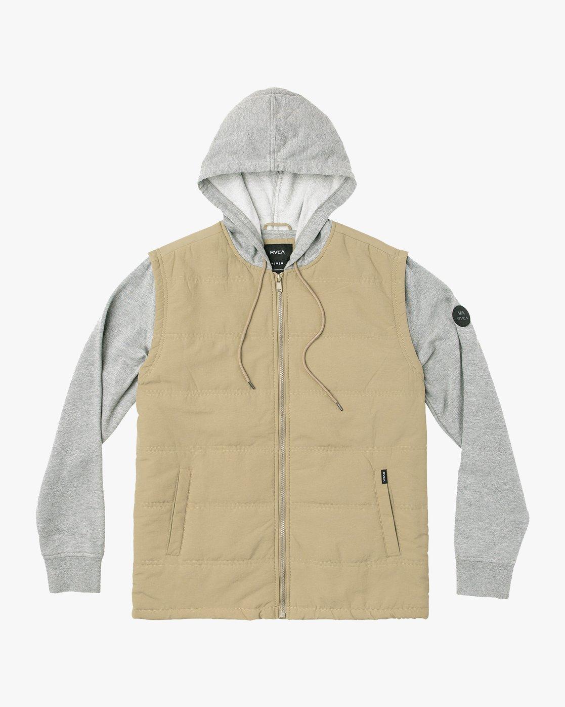0 Logan Puffer Jacket White M610VRLG RVCA