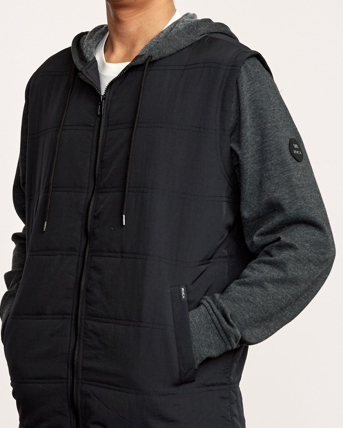 5 Logan Puffer Jacket Black M610VRLG RVCA