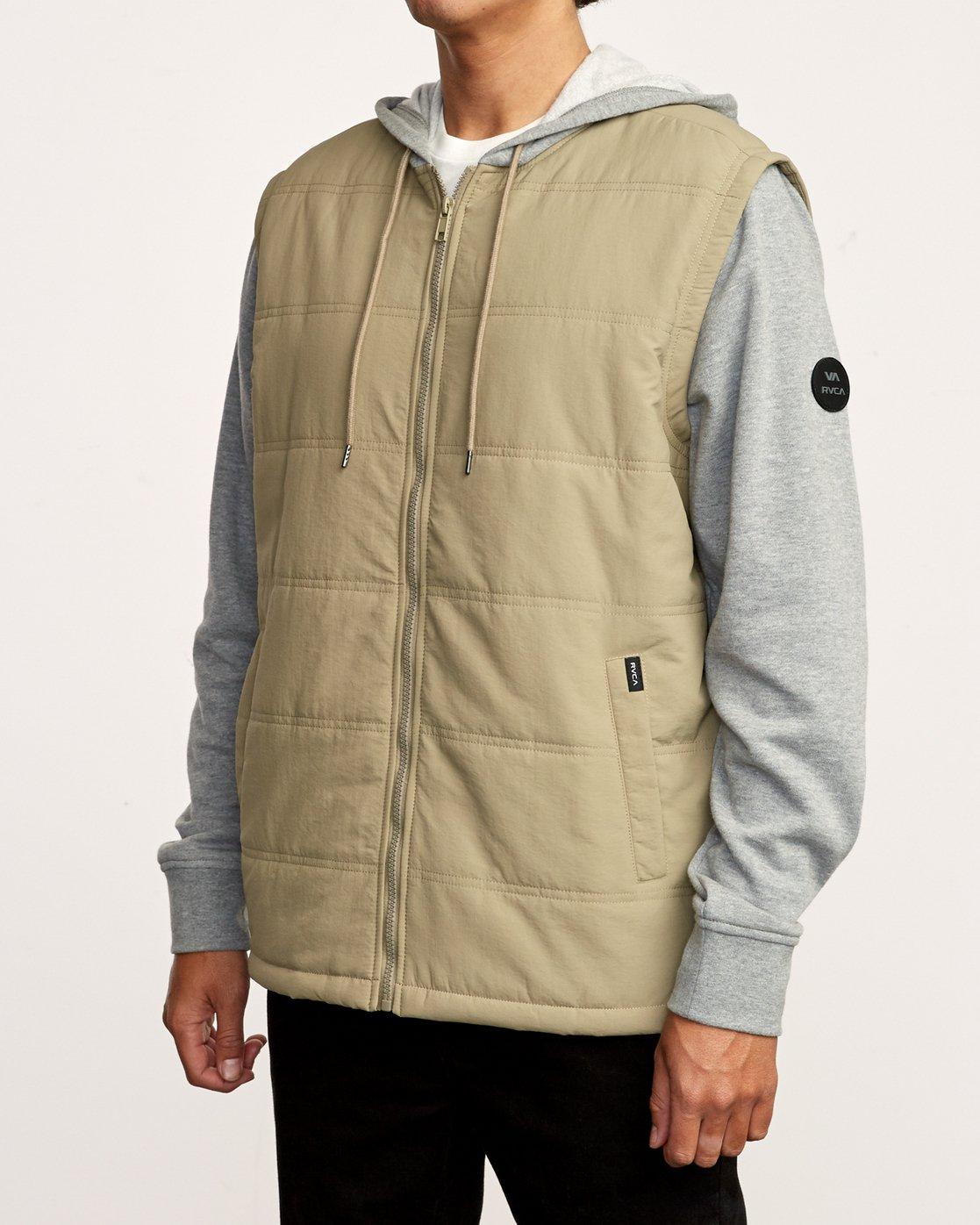 3 Logan Puffer Jacket White M610VRLG RVCA
