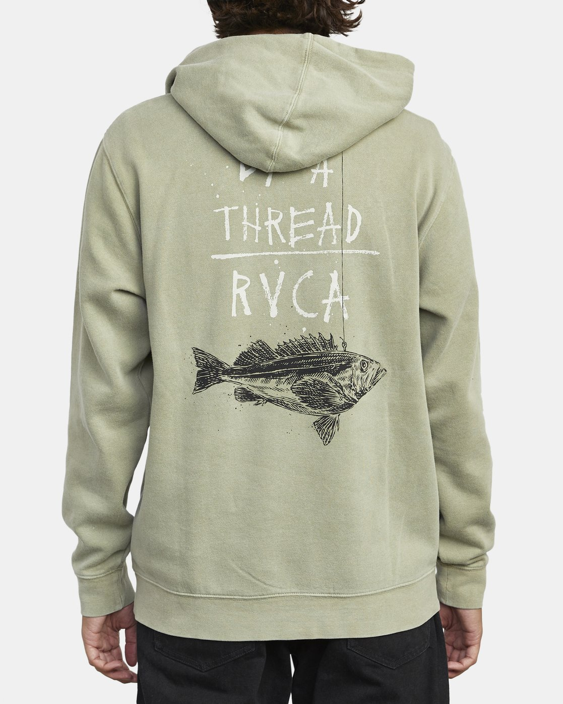 5 BY A THREAD HOODIE Green M6213RBY RVCA