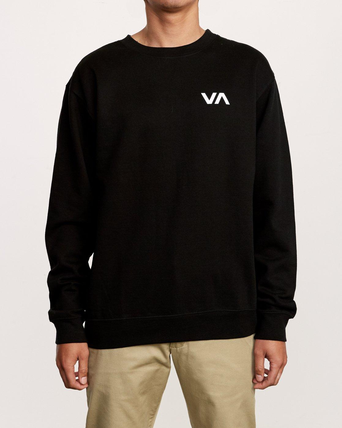 2 VA Vent Crew Sweatshirt Black M622TRVV RVCA