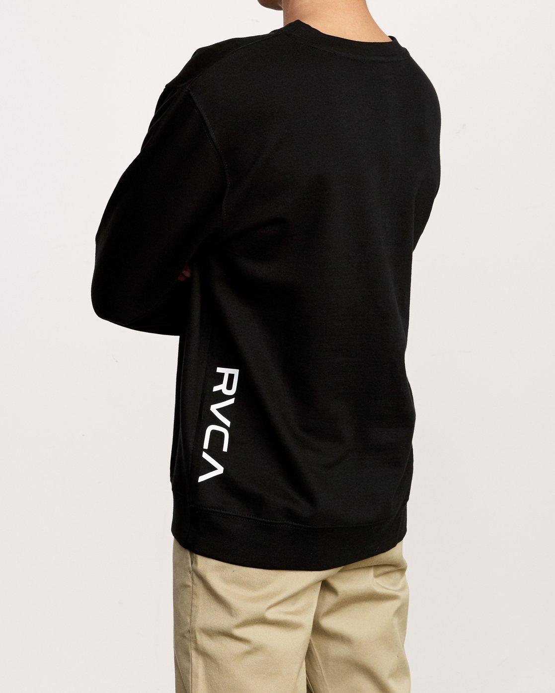 4 VA Vent Crew Sweatshirt Black M622TRVV RVCA