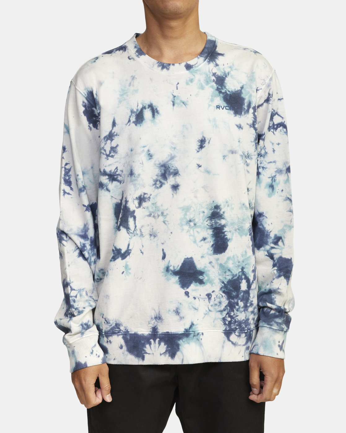 1 SWITCH TIE DYE KNIT SWEATSHIRT Blue M6281RSW RVCA