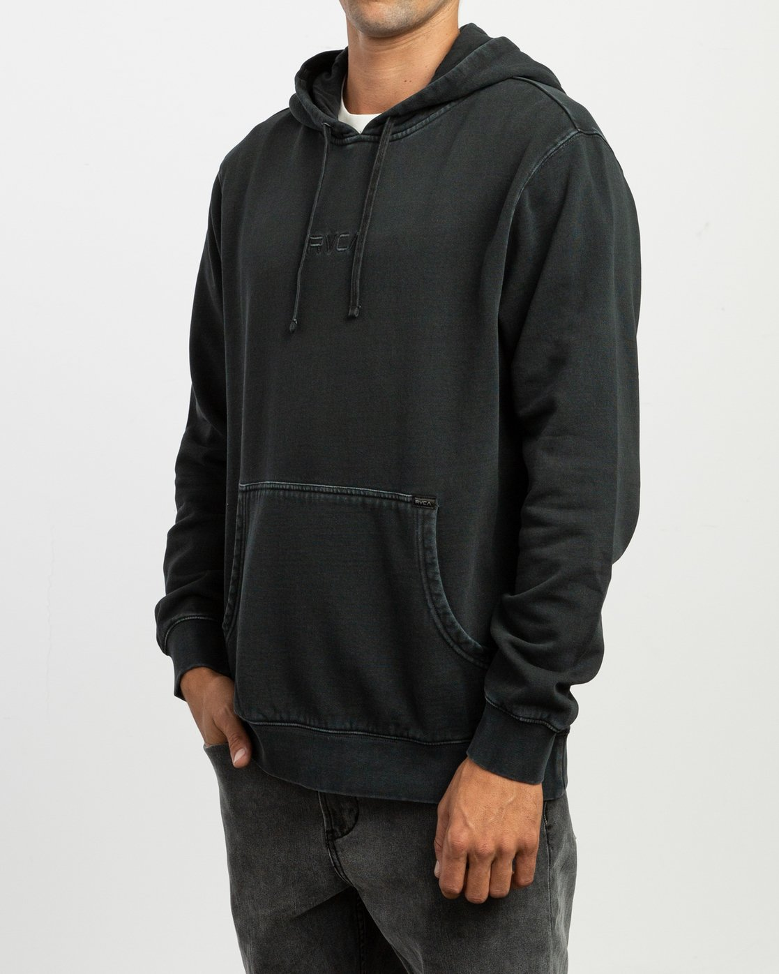 3 Little RVCA Tonally Hoodie Black M628TRLI RVCA
