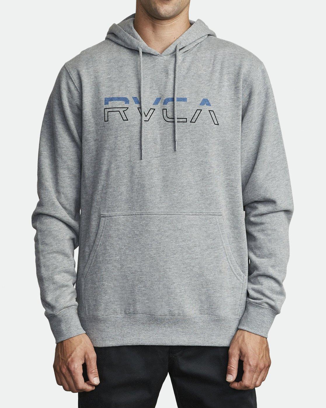0 SPLIT PIN HOODIE Grey M6291RSP RVCA