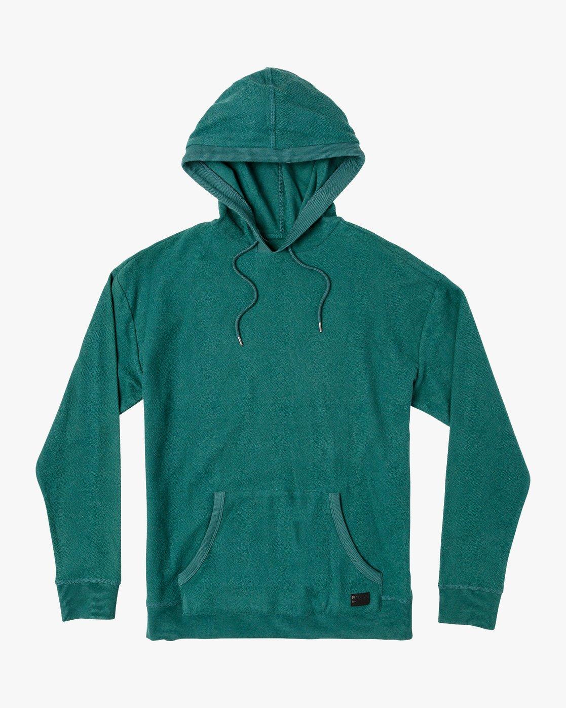 0 Camino Fleece Hoodie Green M629VRCA RVCA