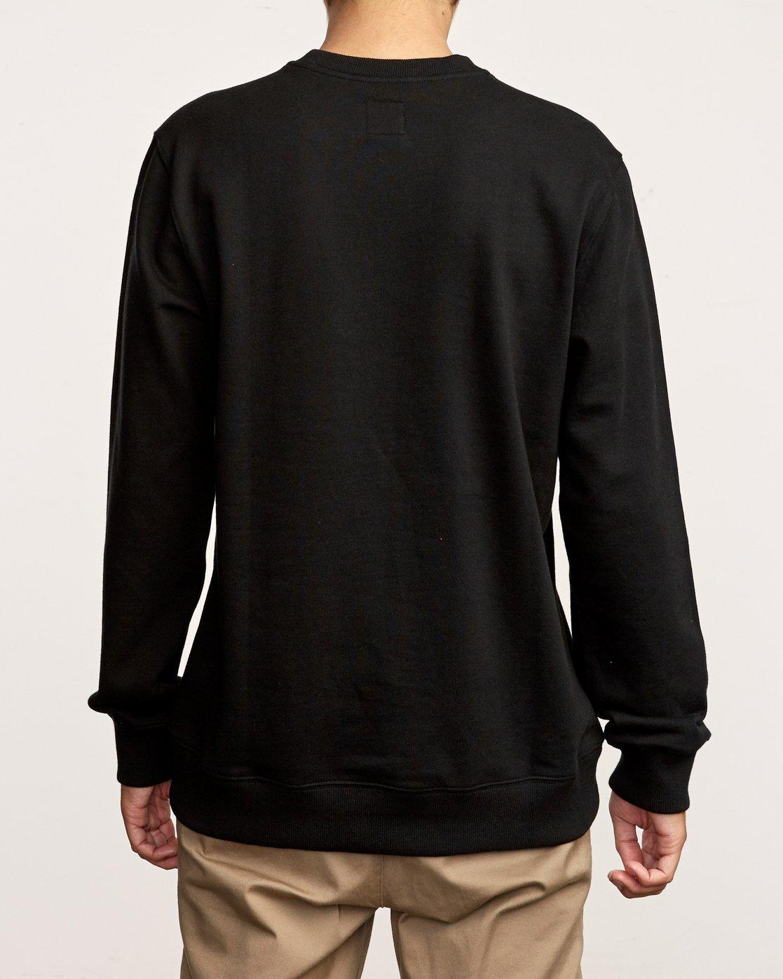 4 Eddy Crew Knit Sweatshirt Black M631VREC RVCA