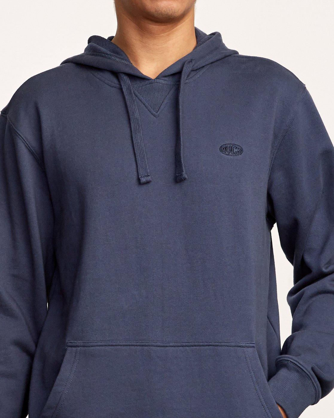 4 Eddy Pullover Knit Hoodie Blue M632VREH RVCA
