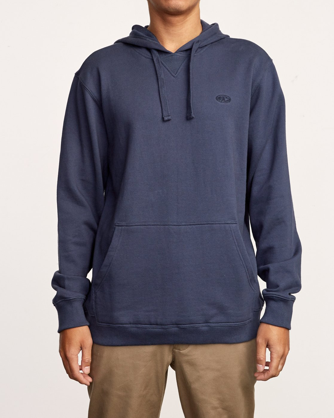 1 Eddy Pullover Knit Hoodie Blue M632VREH RVCA