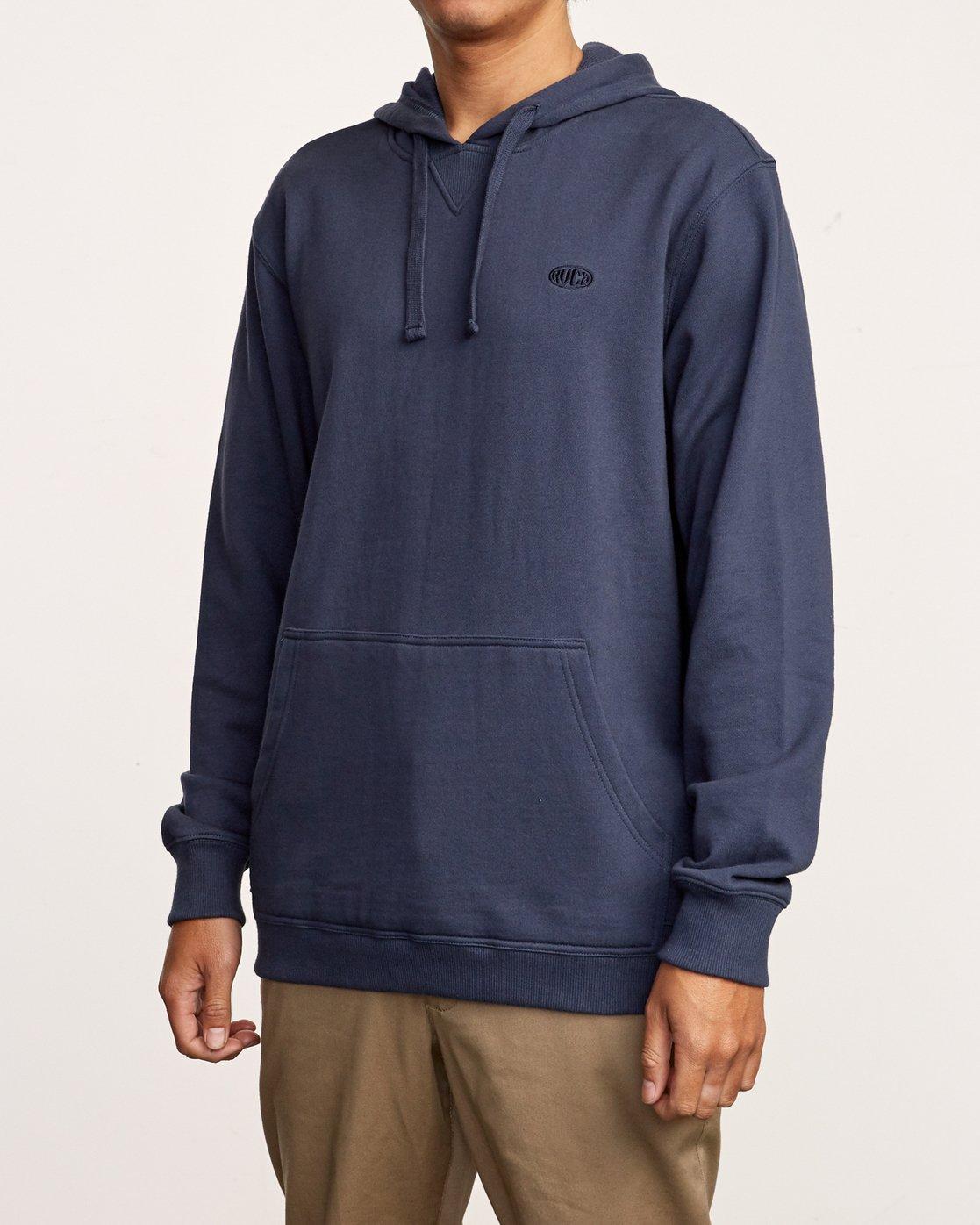 2 Eddy Pullover Knit Hoodie Blue M632VREH RVCA