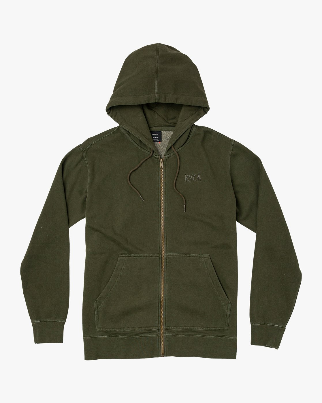 0 Tonally Zip Pigment Hoodie Green M633VRTZ RVCA