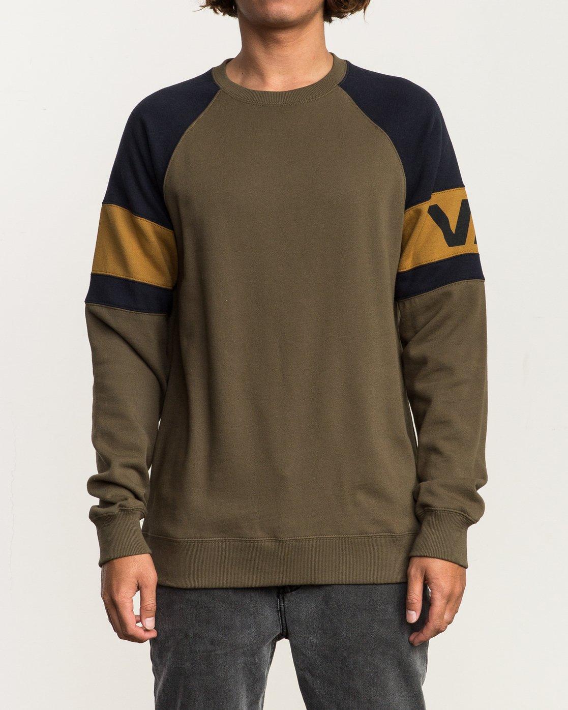 1 Benny Colorblocked Sweatshirt  M640SRBC RVCA