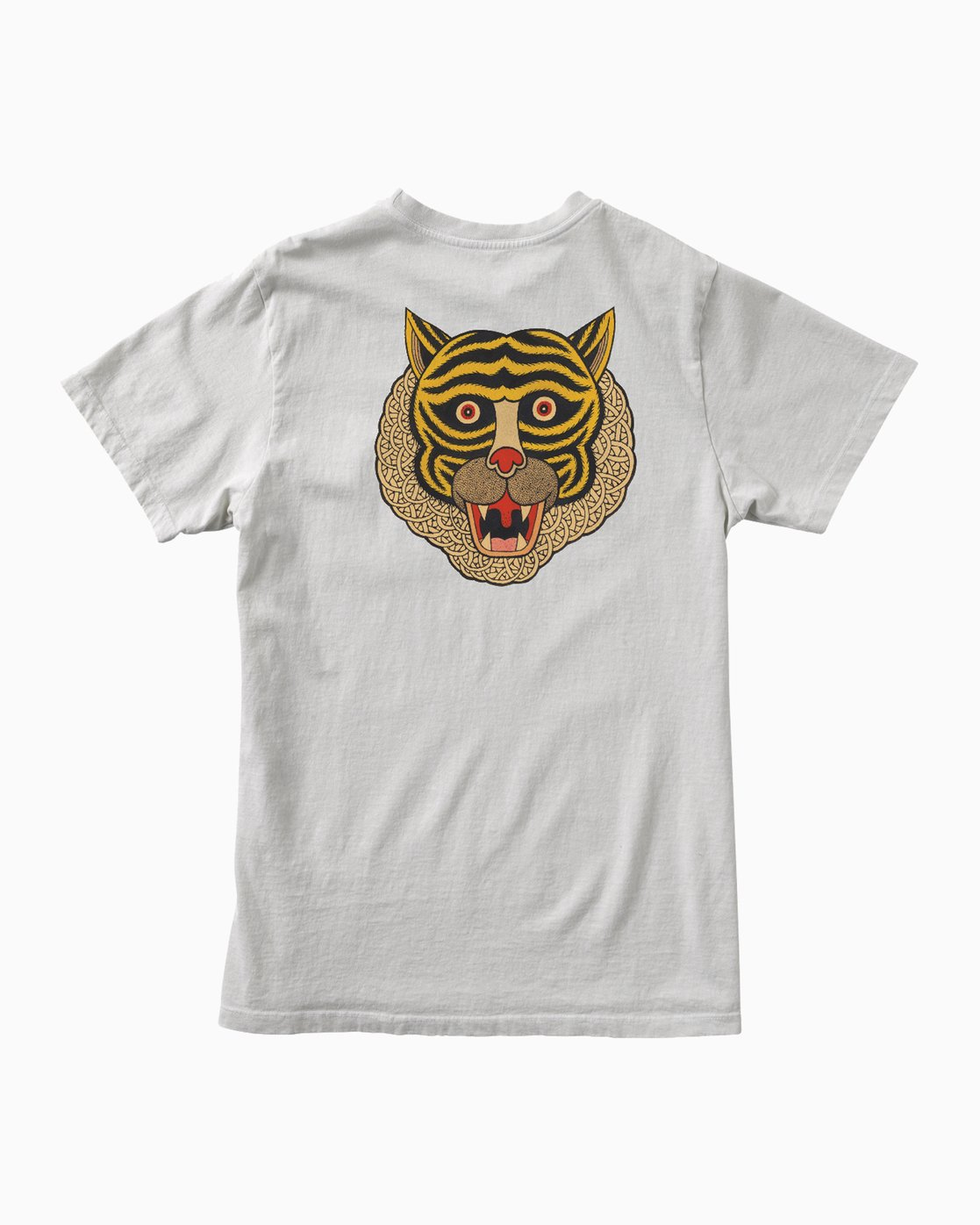 0 Bolt Tiger T-Shirt Silver M641E02B RVCA