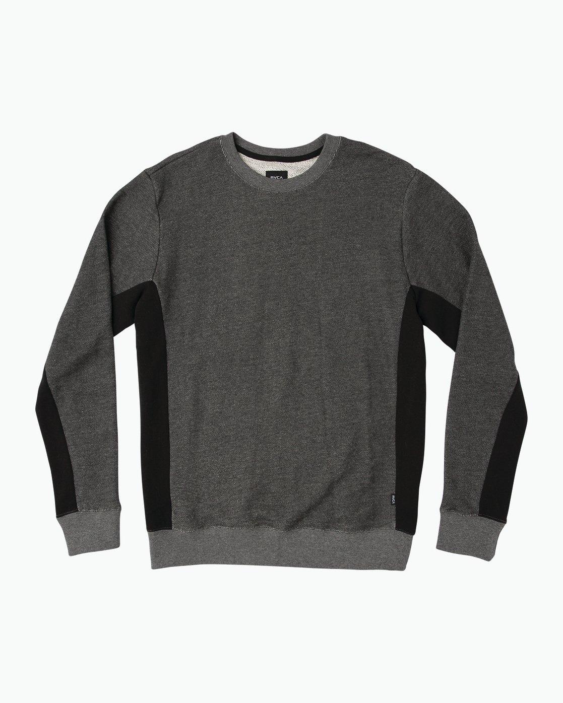 0 Milo Colorblocked Sweatshirt Black M645SRMS RVCA