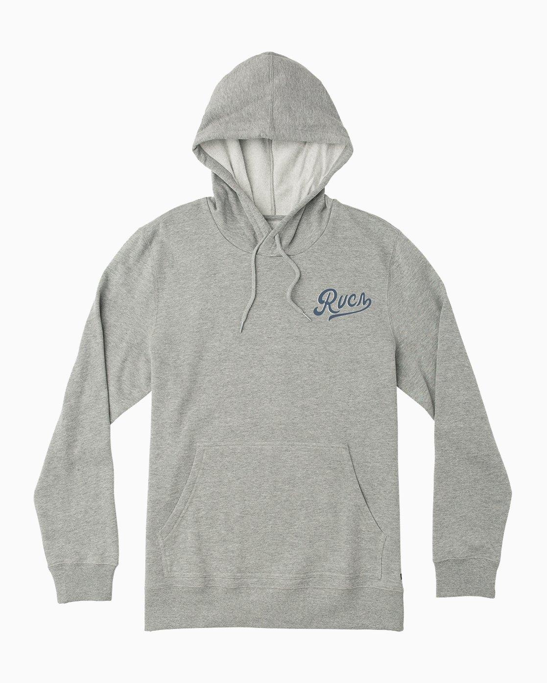 1 Dayshift Logo Hoodie Grey M647SRDL RVCA