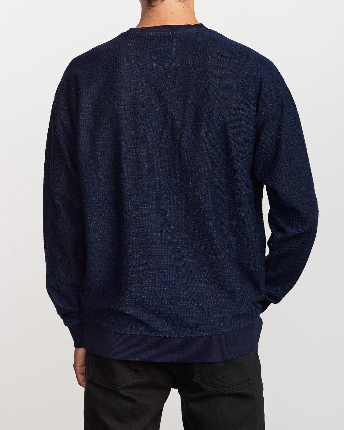 3 Hi-Grade Crew Sweatshirt Blue M653VRJC RVCA