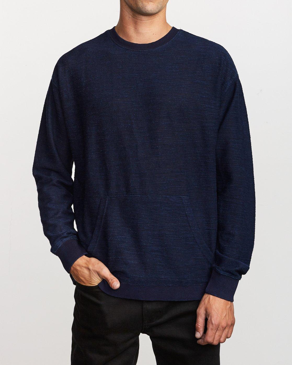 1 Hi-Grade Crew Sweatshirt Blue M653VRJC RVCA