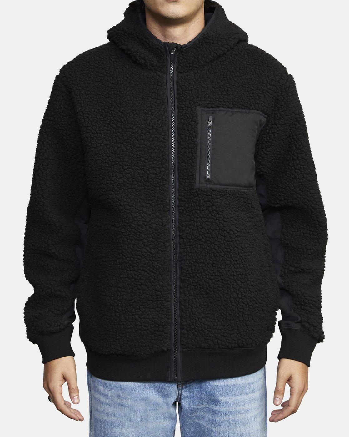 1 Knoll Sherpa Jacket Black M691WRKN RVCA
