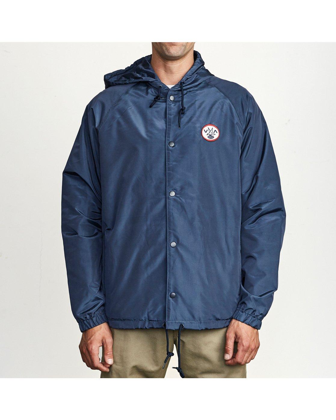 1 VA Hooded Coaches Jacket White M701NRVA RVCA