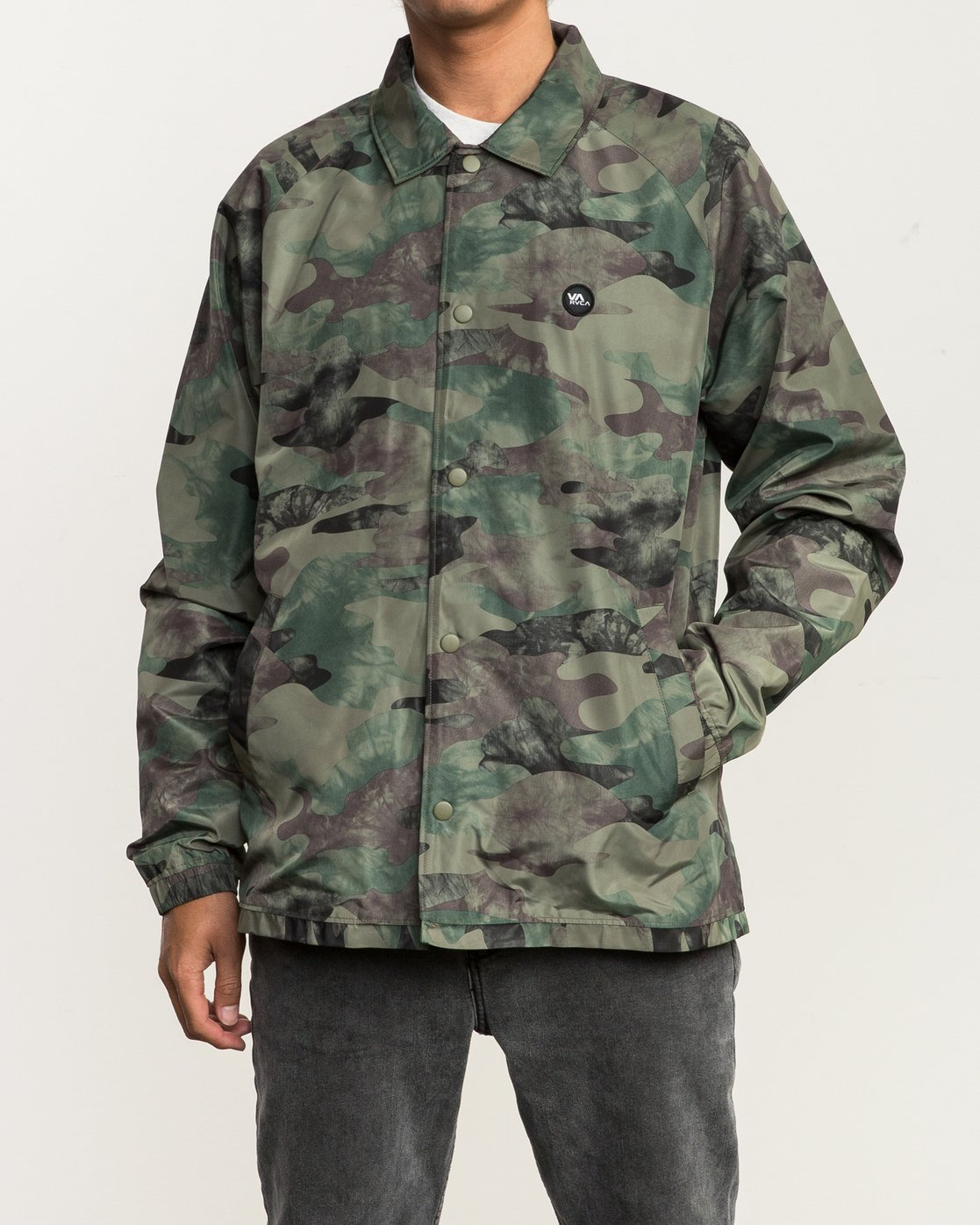 1 ATW II Coaches Jacket Green M701QRAT RVCA