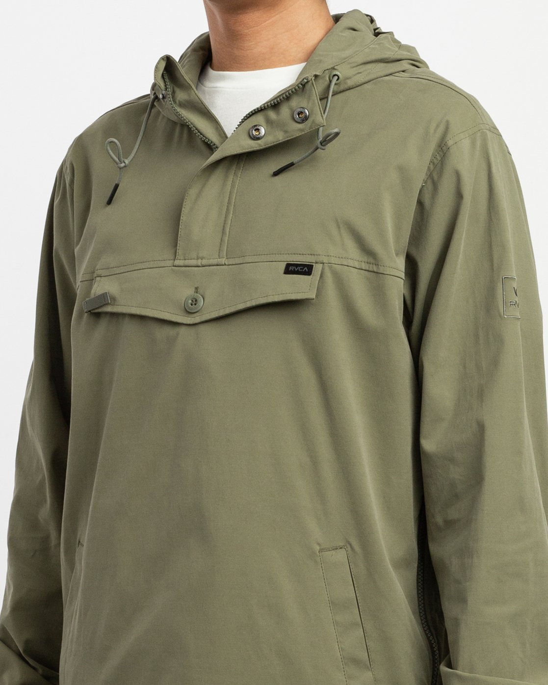 4 On Point Anorak Jacket Green M701TROP RVCA