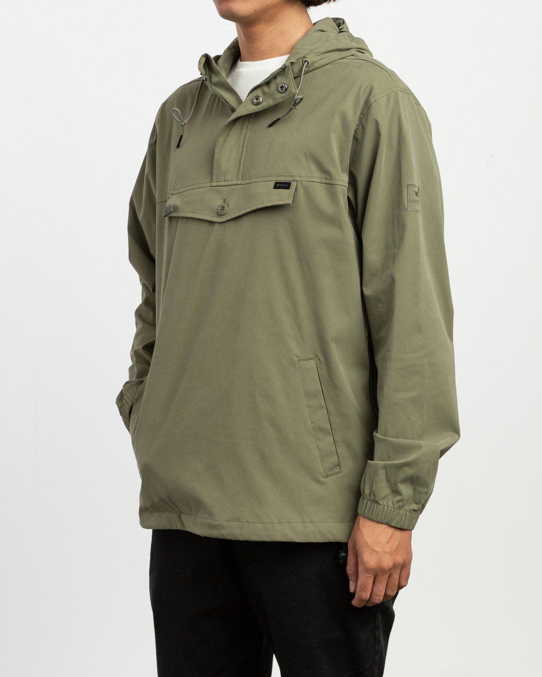 2 On Point Anorak Jacket Green M701TROP RVCA