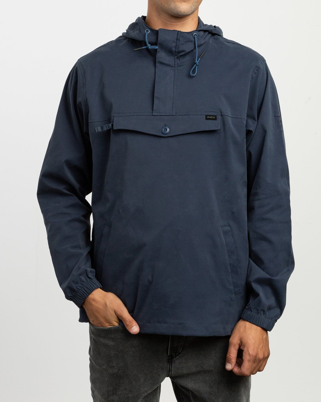 1 On Point Anorak Jacket Blue M701TROP RVCA