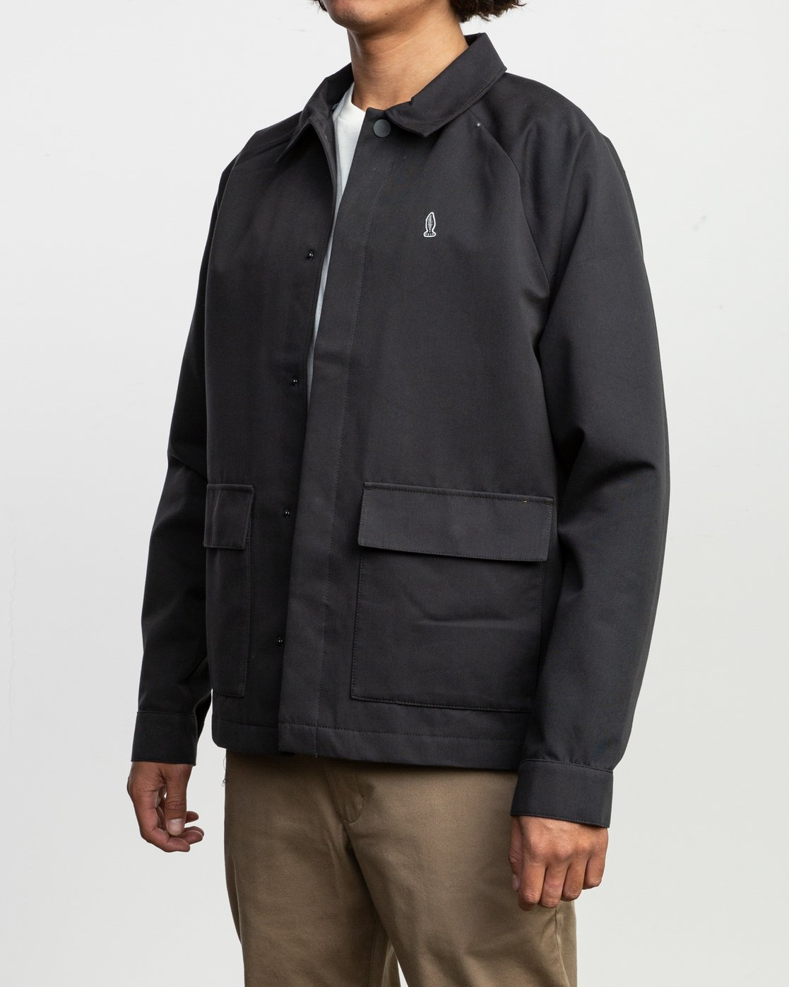 3 Tom Gerrard Waist Cut Jacket Black M702TRGE RVCA
