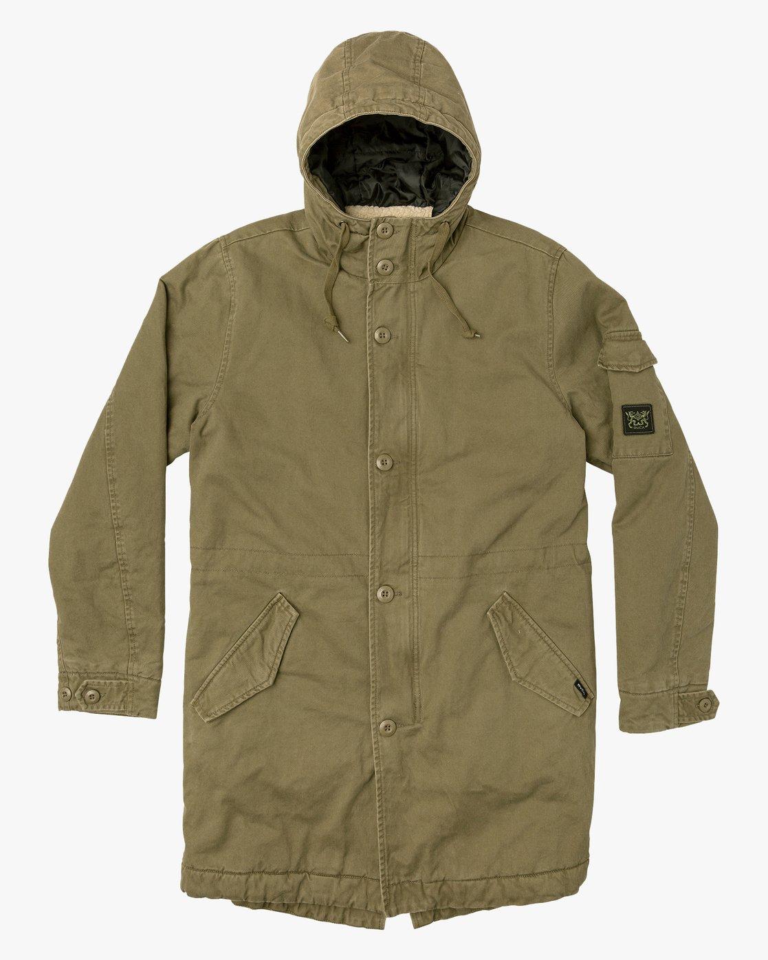 0 Standard Issue Parka Jacket Green M702VRSI RVCA
