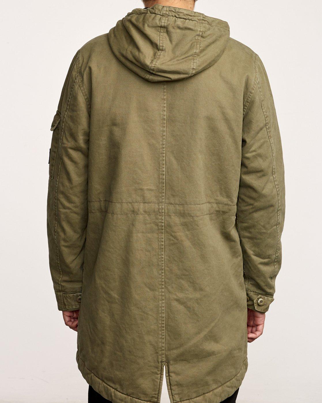 4 Standard Issue Parka Jacket Green M702VRSI RVCA