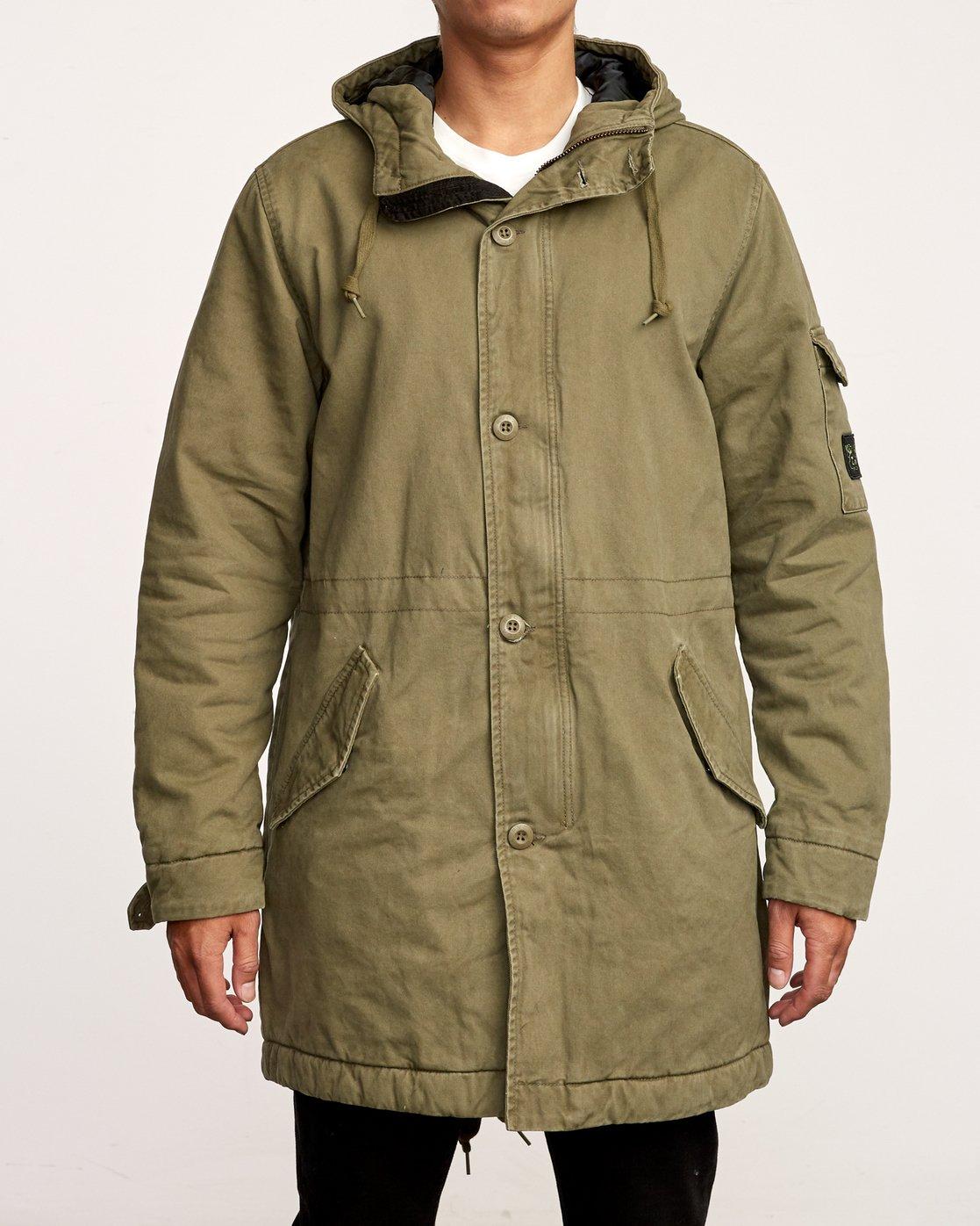 1 Standard Issue Parka Jacket Green M702VRSI RVCA