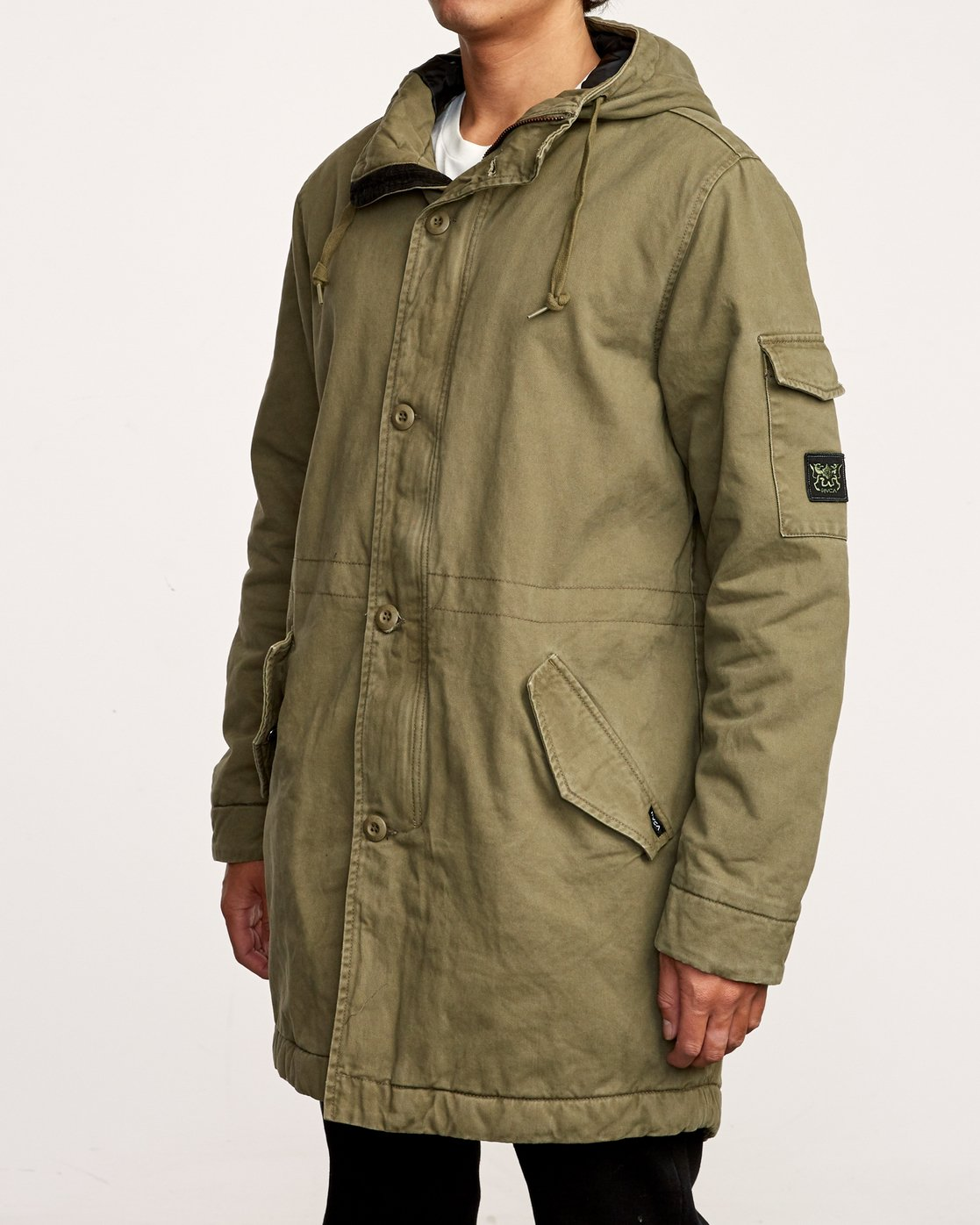 3 Standard Issue Parka Jacket Green M702VRSI RVCA