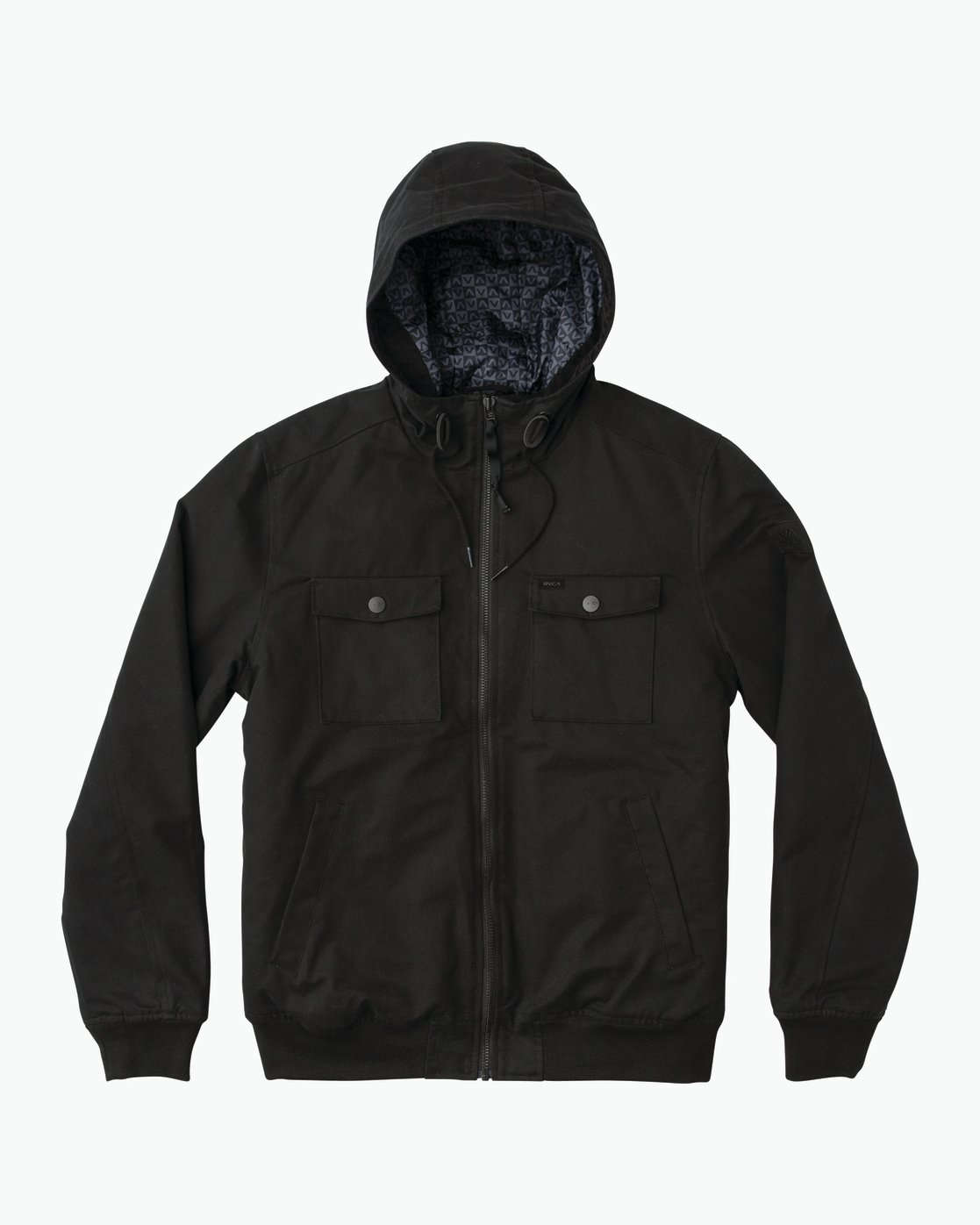 0 Hooded Bomber II Jacket Black M703QRHB RVCA