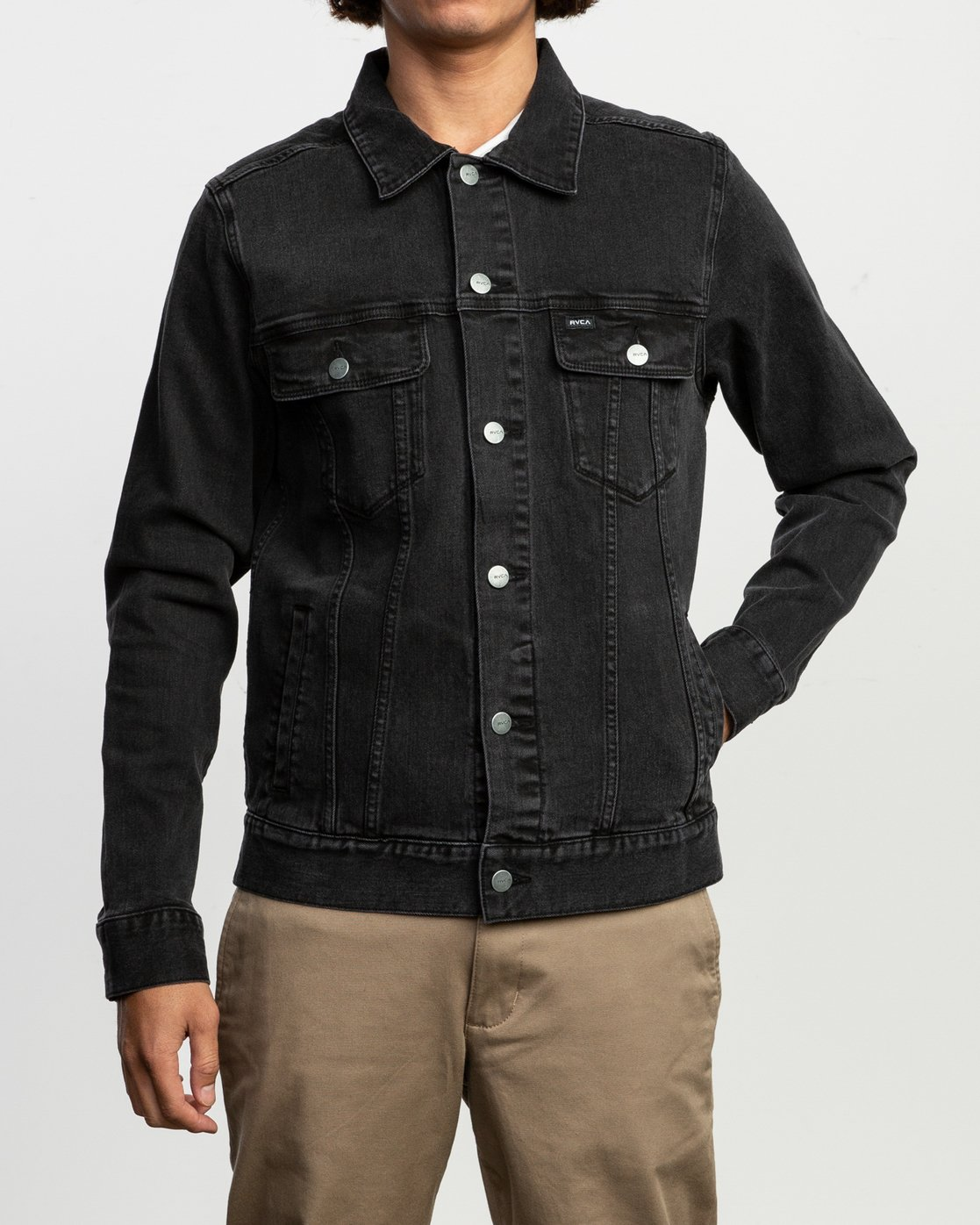 1 Daggers Denim Jacket Black M703TRDV RVCA