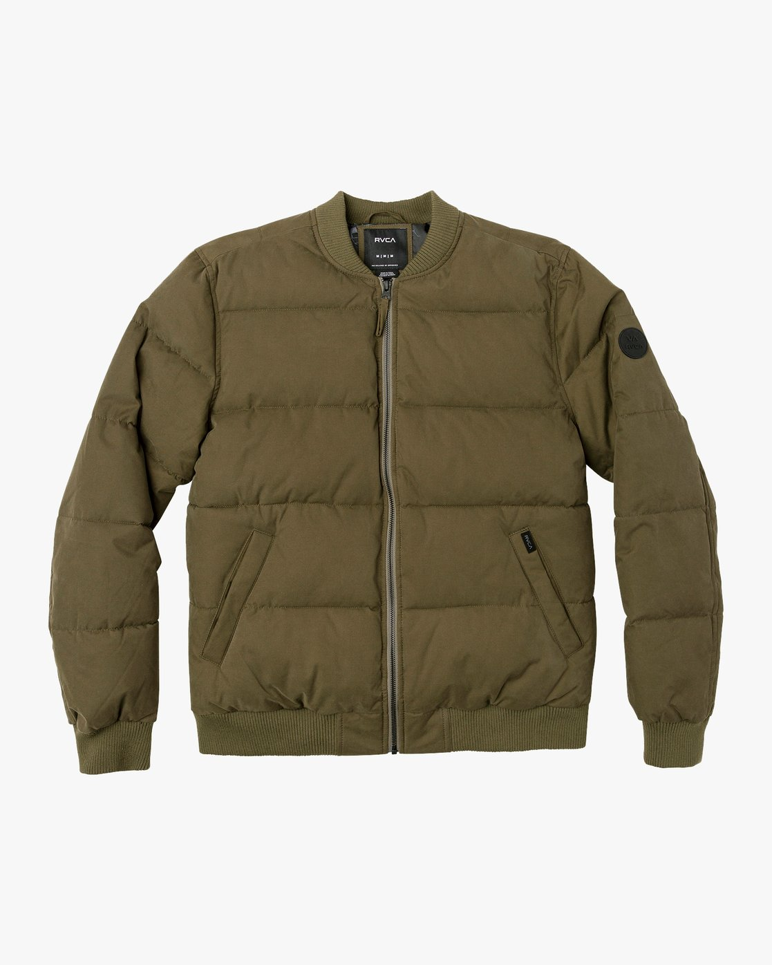 0 Superior Quilted Bomber Jacket Green M703VRSB RVCA