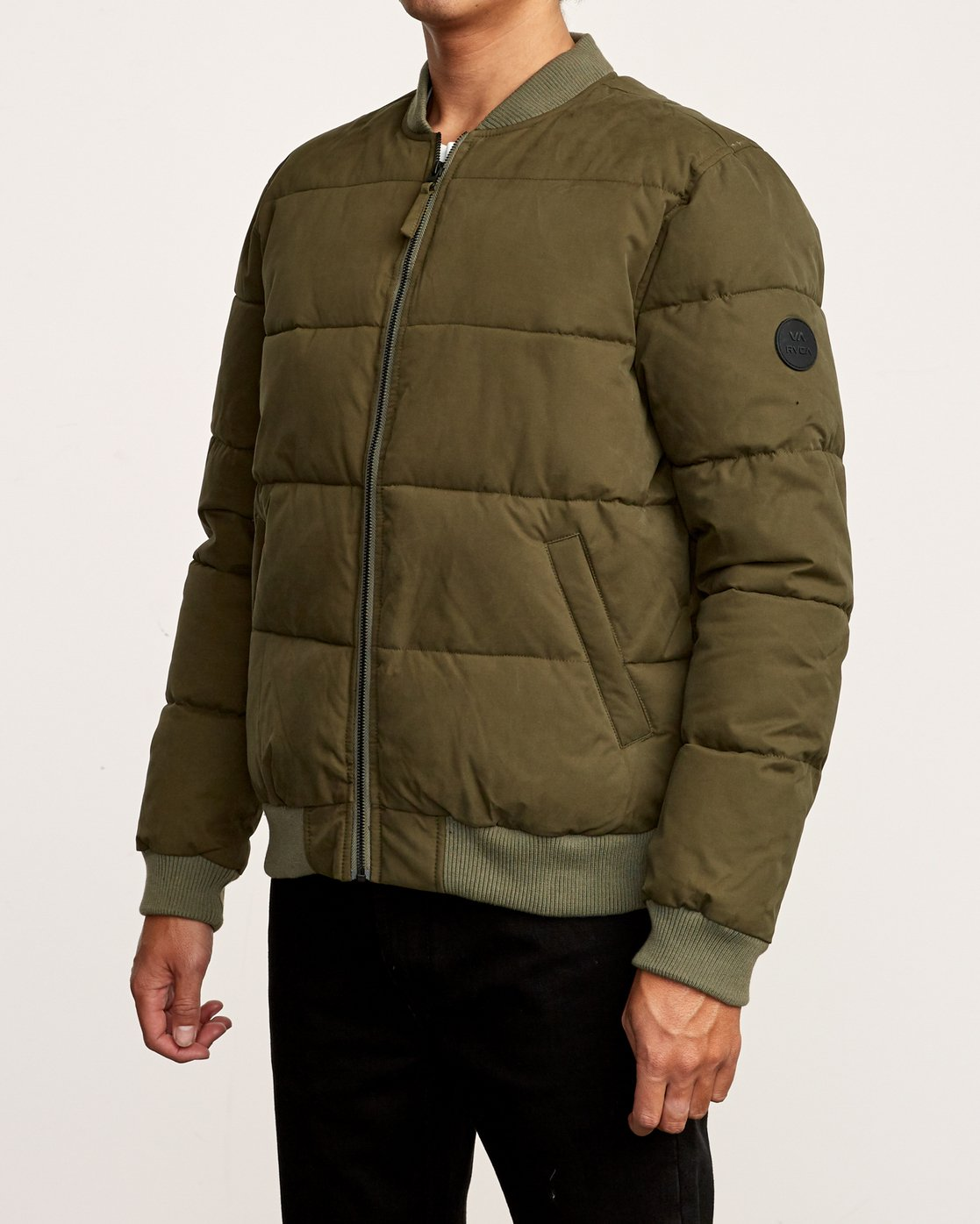 3 Superior Quilted Bomber Jacket Green M703VRSB RVCA