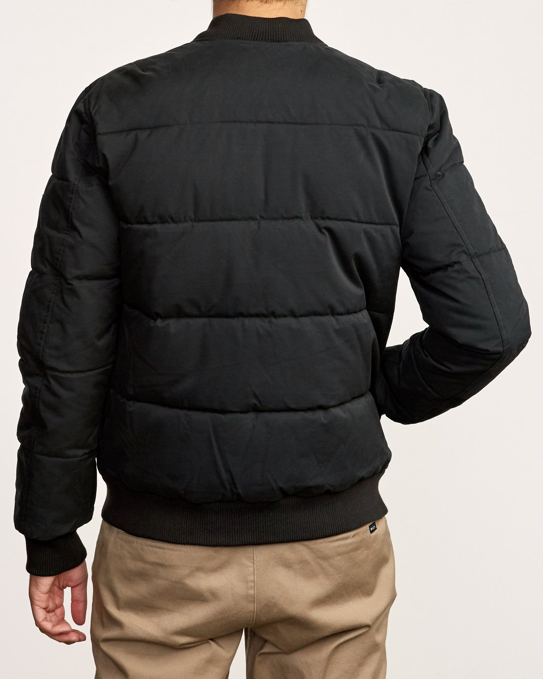 4 Superior Quilted Bomber Jacket Black M703VRSB RVCA
