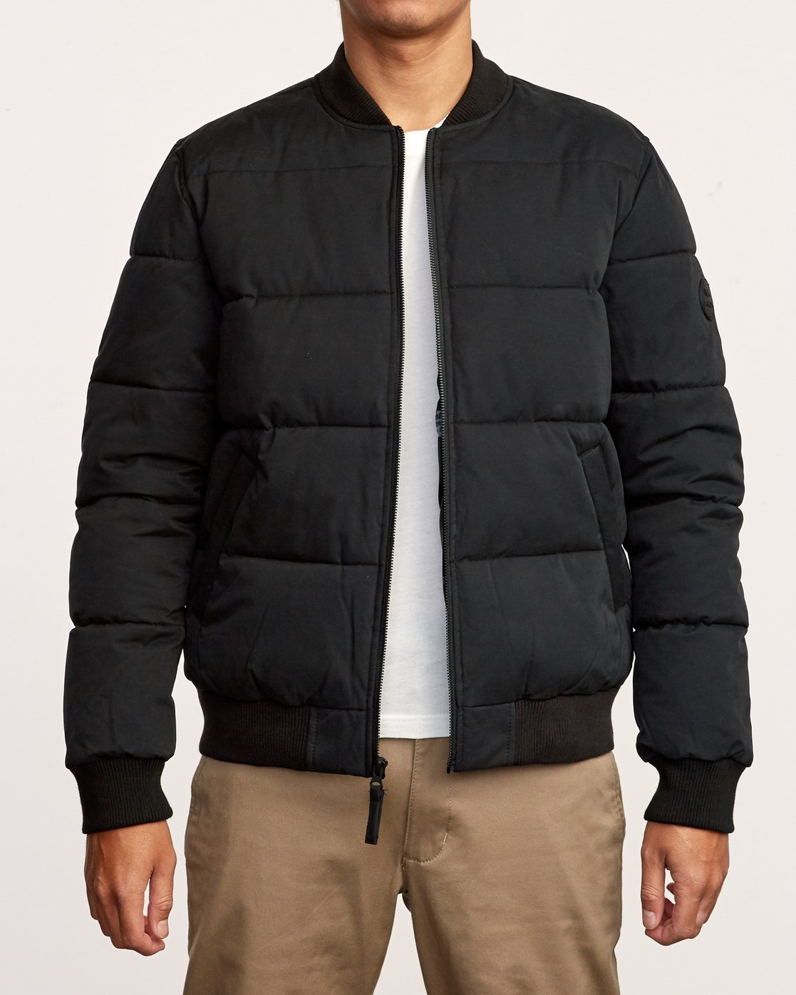 2 Superior Quilted Bomber Jacket Black M703VRSB RVCA