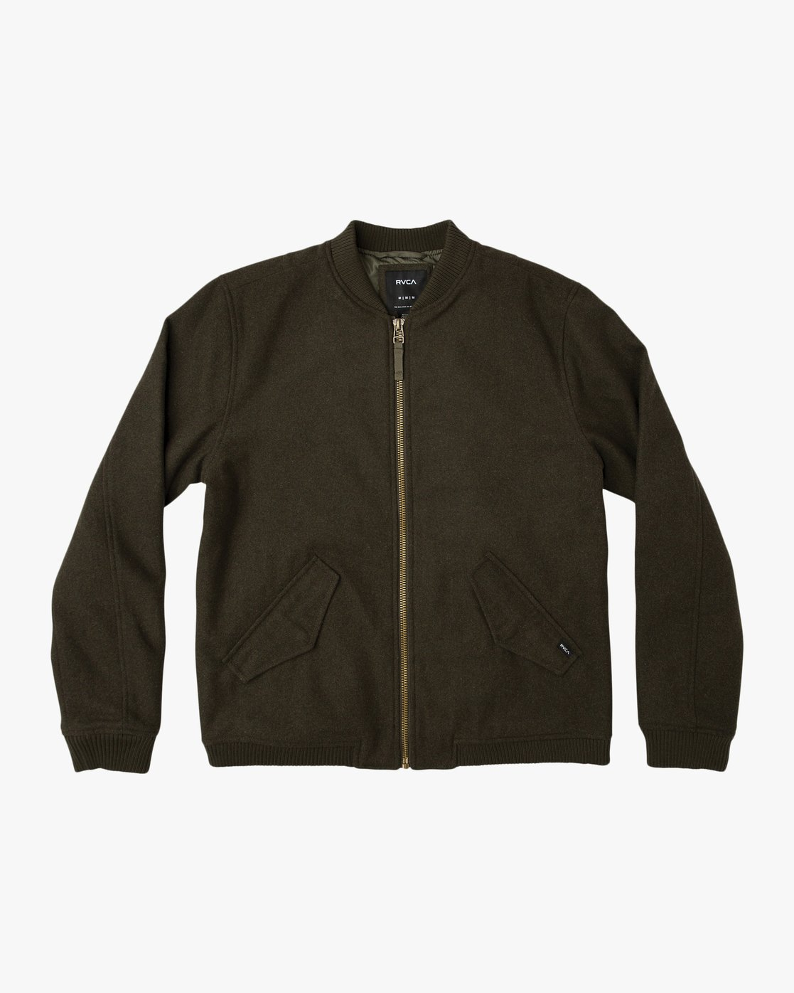 0 Collective Wool Bomber Jacket  M704SRVO RVCA