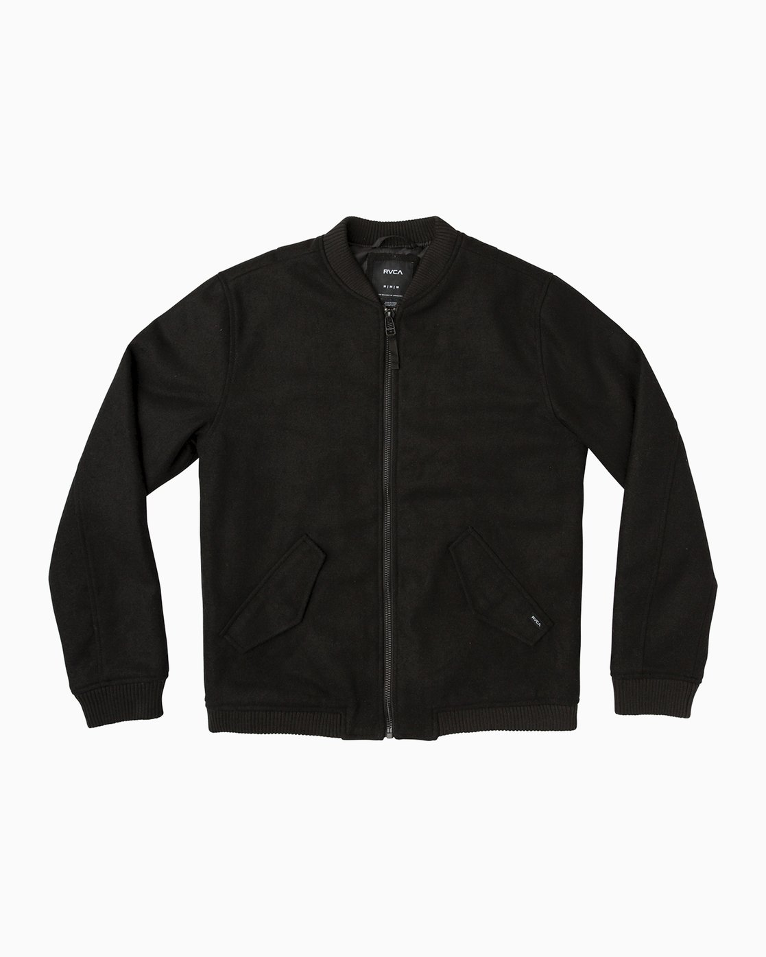 0 Collective Wool Bomber Jacket Black M704SRVO RVCA