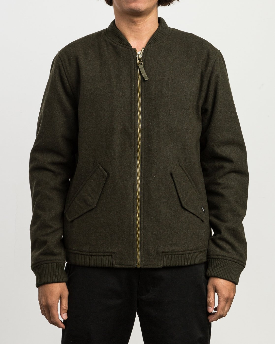 2 Collective Wool Bomber Jacket  M704SRVO RVCA