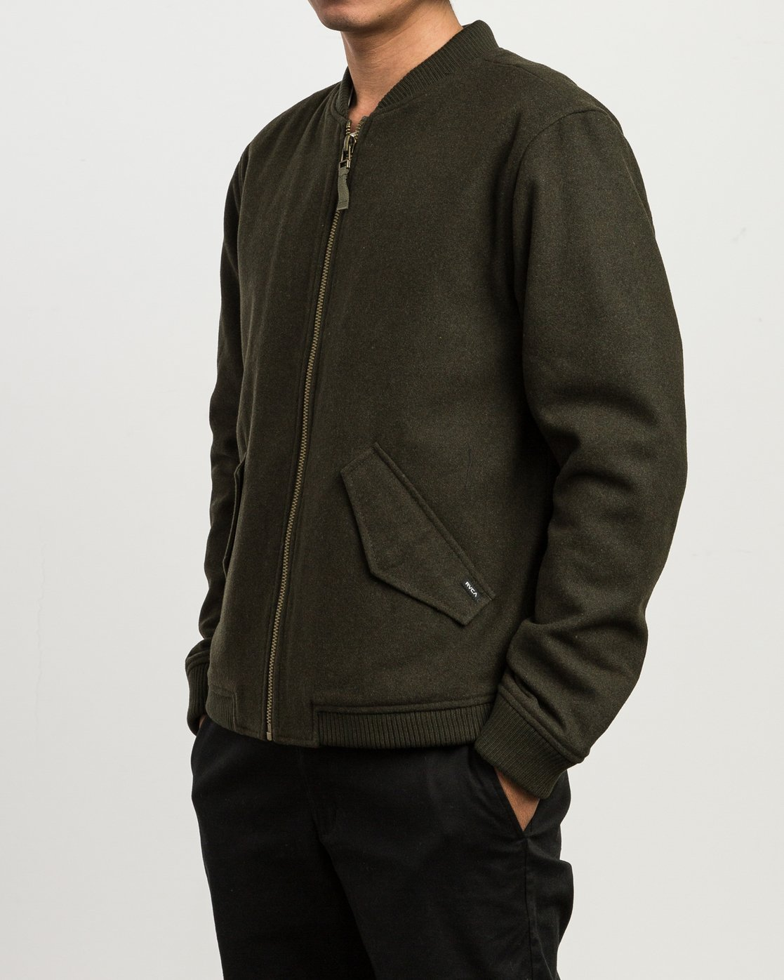 3 Collective Wool Bomber Jacket  M704SRVO RVCA