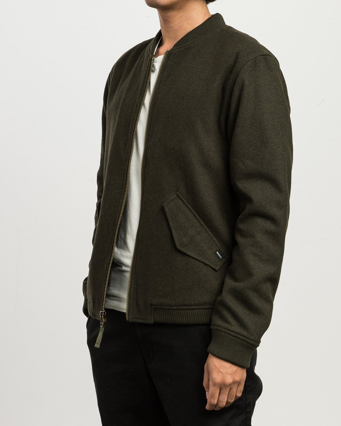 4 Collective Wool Bomber Jacket  M704SRVO RVCA
