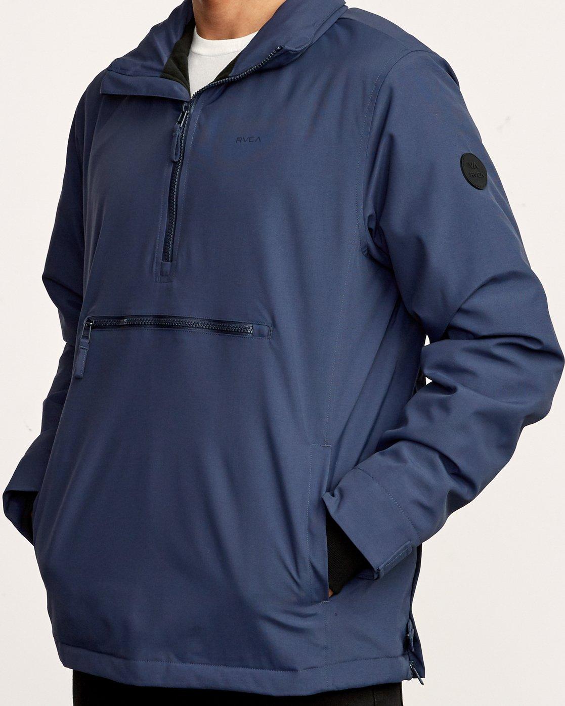 4 Accomplice Anorak Jacket Blue M704VRAC RVCA