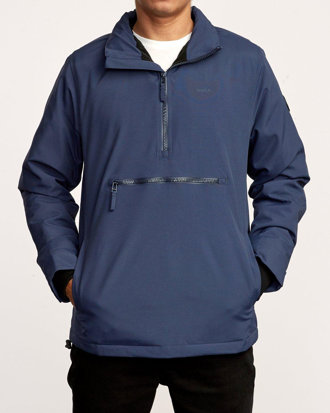 1 Accomplice Anorak Jacket Blue M704VRAC RVCA